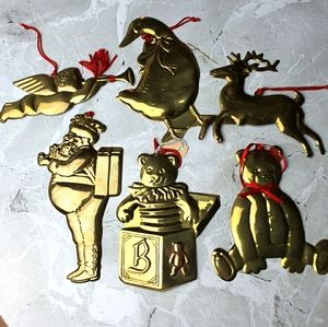 Department 56 Solid Brass Vintage 1970's Ornaments